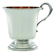 SILVER CHRISTENING CUP. HALLMARKED STERLING SILVER CHRISTENING MUG. ENGLISH MADE