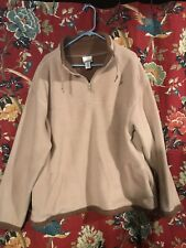 Women's 2x Tan Fleece Pullover Jacket Sweater by Sahalie with brown