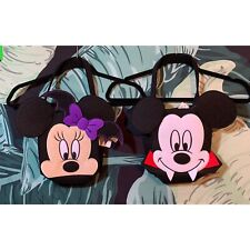 Disney Mickey Mouse Vampire & Minnie Mouse Bat Halloween Trick Or Treat Bags NWT