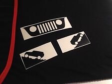 Jeep Decal Set Windshield Replacement Grill  Stickers Wrangler JK (buy 2 get 3!)