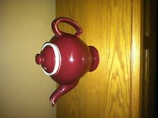 Hall McCormick Tea - Burgundy Teapot - Made in USA - K5 - Cup Infuser - GREAT