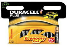 12 DURACELL PLUS AAA MN2400 LR03 Baterías 1.5vv Alcalino 1 Pack 12 (8+4)