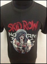 New vintage 80's Skid Row rock head band music concert t-shirt XS