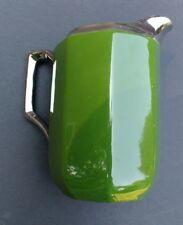 Vintage Rudolph Wachter RW Germany Green Deco Creamer Bavarian Silver Trim