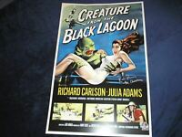 RICOU BROWNING Signed Creature from the Black Lagoon 11x17 Poster BAS BECKETT B
