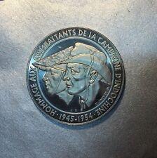 MEDAILLE HOMMAGE aux COMBATTANTS de la CAMPAGNE d'INDOCHINE 1945 / 1954.