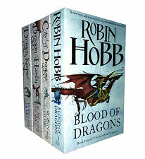 Robin Hobb Trilogy 4 Books Set The Rain Wild Chronicles Collection Dragon Haven