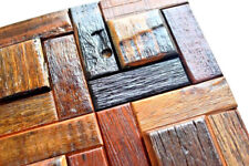 Wood Mosaic Tiles, Wall Tiles, Wall Covering Panels, Old Boat Reclaimed Wood