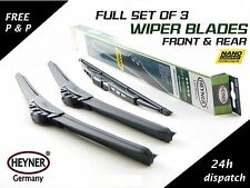 FORD FUSION 2002-2015 FRONT AND REAR WINDSCREEN WIPER BLADES HYBRID