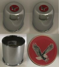 """4 Wheel Center Caps 4.25"""" For 5 Lug Ford TRUCK 6 Lug Chevy 4WD 4x4 RED EAGLE"""