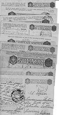 MUSSOLINI BENITO N. 9 motti diversi su cartoline - postcards in franchigia