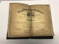 Vintage Antique Johnstown Pa High School Diploma 1938 Leather Bound