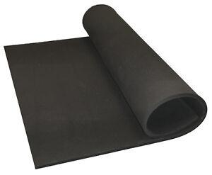 BLACK NEOPRENE PLAIN SPONGE/FOAM RUBBER SHEET X 1.5MM - 25MM THICK VARIOUS SIZES