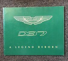 Aston Martin DB7: A Legend Reborn 1996
