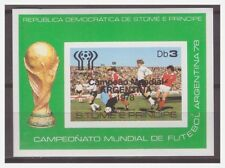 0191 Sao Tome 1978 soccer Argentina overprint Argentina S/S MNH imperf
