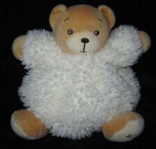 Doudou boule petit Ours marron blanc écru Kaloo 15 cm