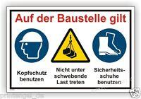 Schild,Baustelle,Bauschild,Helmpflicht,Sichrheitsschuhe tragen,achtung Kran B23