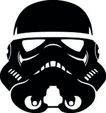Star Wars Stormtrooper Vinilo Pegatina Calcomanía Coche Caravana Portátil 10 cm X 9 Cm