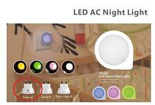 Led Luz De Noche Con Día / Noche Auto Sensor Mains Reino Unido Pared Enchufe Para Bebés Dormitorio