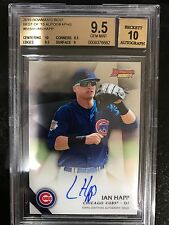 2015 Bowman's Best Ian Happ auto BGS 9.5 10 AUTO call up and HR in his debut