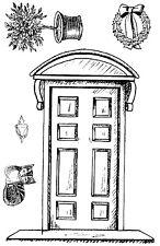 Unmounted rubber stamps Front Door