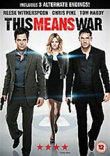 THIS MEANS WAR TOM HARDY CHRIS PINE REESE WITHERSPOON FOX UK REG2 DVD NEW SEALED