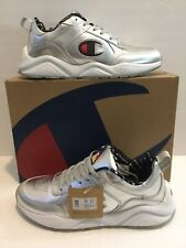 Champion 93 Eighteen Metallic Mens Silver Athletic Shoes Size 12 New