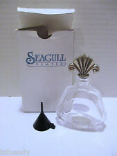 Seagull Pewter - 24% Lead Crystal Perfume Bottle, Cristal France, Pewter Stopper