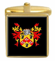 Select Gifts Mackay Scotland Family Crest Surname Coat Of Arms Gold Cufflinks Engraved Box