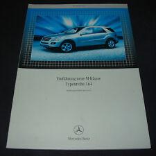 Werkstatthandbuch Mercedes M-KLasse W 164 Einführungsschrift Stand Mai 2005!