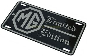 """MG MGB Limited Edition - license plate in embossed aluminium 12""""x 6"""" tag"""