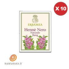 Erbe Officinali HENNE' NERO Naturale Rang 100 g - Erbamea [10 Confezioni]