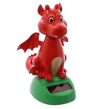 Solar WELSH DRAGON Dancing Fun Novelty Toy Red Dinosaur Car Office Desk Gift