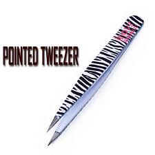 Professional Precision Eyebrow Tweezers Pointed Tip Plucking Ingrown Hair Beauty