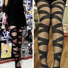 Sexy Femme Gothique Rockeur Croix Bandage Lanières Pantalon Collant Bas Leggings