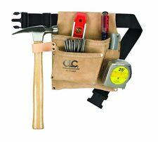 Carpenter Tool Belt Leather Nail Hammer Waist Holder Bag Construction Suede Belt