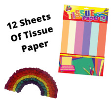 12 Sheets - Tissue Paper 6 Colours Large Quality Sheets Acid Free Bio Material!!