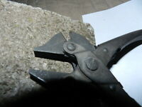 "VINTAGE BERNARD WIRE CUTTERS / 6 1/2 "" - NICEST ONE ON E-BAY - EXTREMELY CLEAN"