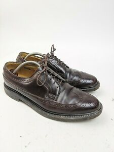 Florsheim Imperial Kenmore 93605 Shell Cordovan Long Wing V Cleat 5 Nail Sz 10 D