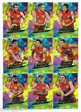 2017 Select Footy Stars Holo Foils GOLD COAST Team Set