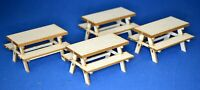 1:32 Scale  - 4 Pub-style Tables Kit for Scalextric/Other Static Layouts