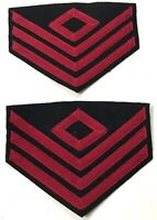 CIVIL WAR US UNION FIRST SARGENT RANK CHEVRONS-ARTILLERY