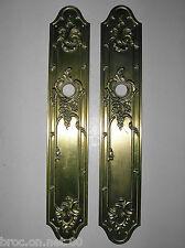 plaque proprete laiton bronze poignee porte serrure deco chateau maison maitre