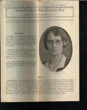 Nellie Verne Burt McPherson Autographed Article 1929 National Authors Day