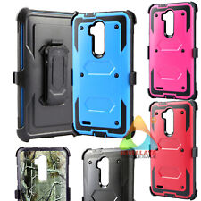 For ZTE Max XL Blade Max 3 Blade X Max Clip Screen Protector Rugged Case Cover