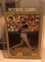 1987 TOPPS #320 - BARRY BONDS ROOKIE - PITTSBURGH PIRATES-with Error