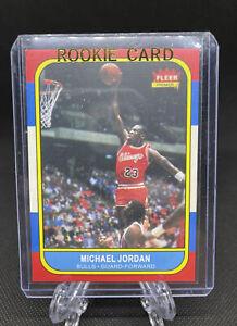 86 Fleer Michael Jordan Rookie Reprint Card