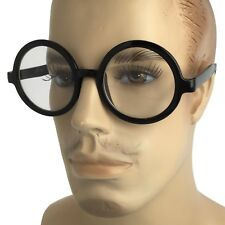 Men VINTAGE RETRO WALDO PROFESSOR Style Clear Lens EYE GLASSES Round Black Frame