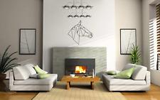 HORSE HEAD GEOMETRIC DESIGN WALL ART/DECAL STICKER  BEDROOM/LIVING ROOM