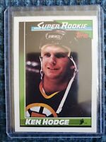 1990-91 Topps SUPER ROOKIE Ken Hodge Boston Bruins Card #5